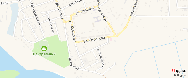 Улица Пирогова на карте Харабали с номерами домов