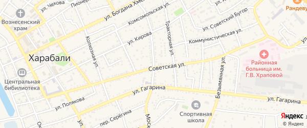 Московская улица на карте Харабали с номерами домов