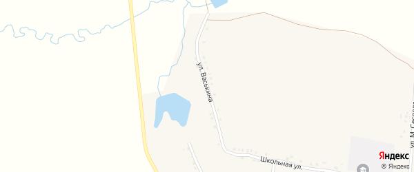 Улица В.Васькина на карте деревни Шивбосей Чувашии с номерами домов