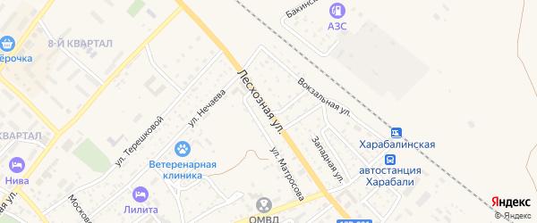 Лесхозная улица на карте Харабали с номерами домов