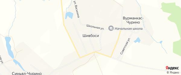 Карта деревни Шивбосей в Чувашии с улицами и номерами домов