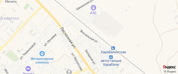 Вокзальная улица на карте Харабали с номерами домов