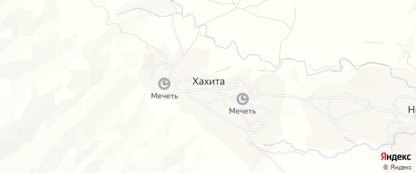Карта села Хахиты в Дагестане с улицами и номерами домов
