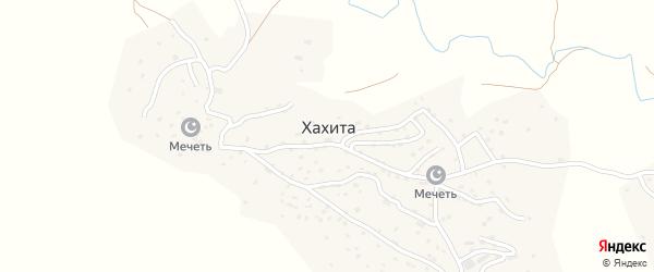 Улица Алигаджиева на карте села Хахиты Дагестана с номерами домов