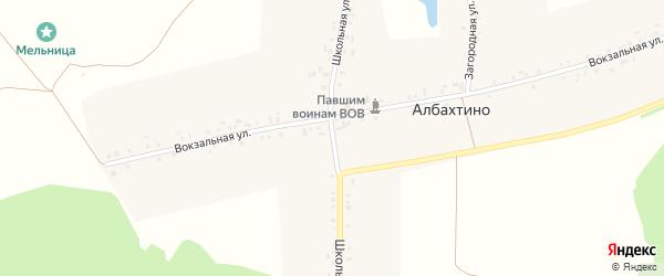 Школьная улица на карте деревни Албахтино с номерами домов