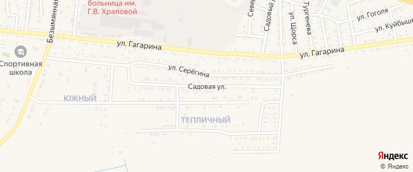 Садовая улица на карте Харабали с номерами домов