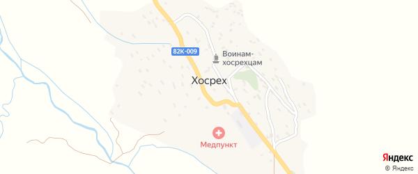 Улица Жукова на карте села Хосреха Дагестана с номерами домов