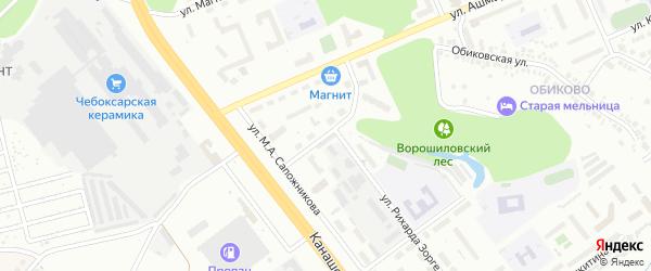 Улица Пржевальского на карте Чебоксар с номерами домов