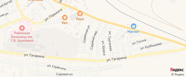 Садовый переулок на карте Харабали с номерами домов