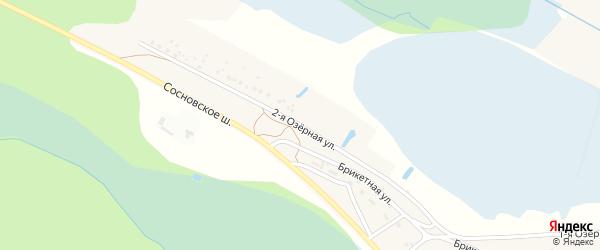 Озерная 2-я улица на карте Чебоксар с номерами домов