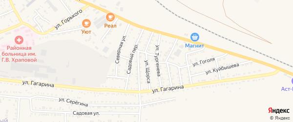 Улица Щорса на карте Харабали с номерами домов