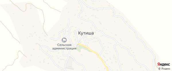 Улица Исагаджиева на карте села Кутиши Дагестана с номерами домов