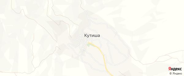 Карта села Кутиши в Дагестане с улицами и номерами домов