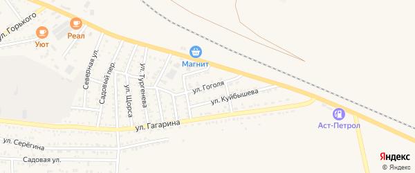 Улица Гоголя на карте Харабали с номерами домов