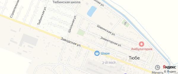 Улица К.Маркса на карте поселка Тюбе Дагестана с номерами домов