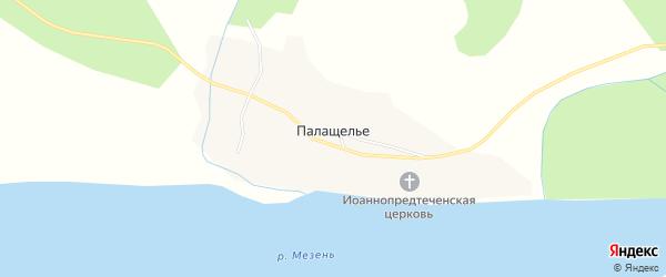 Карта деревни Палащелья в Архангельской области с улицами и номерами домов