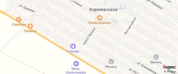 Улица Ленина на карте села Коркмаскалы Дагестана с номерами домов