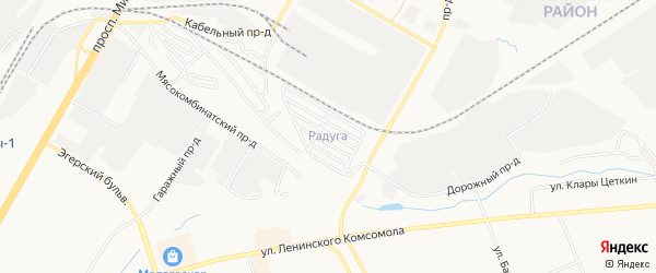 СТ Радуга (Ишлейского с/п) на карте Ишлейского сельского поселения с номерами домов