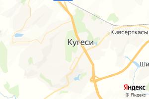 Карта пгт Кугеси Чувашская Республика