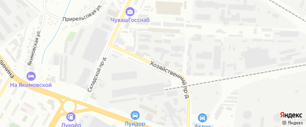 Хозяйственный проезд на карте Чебоксар с номерами домов