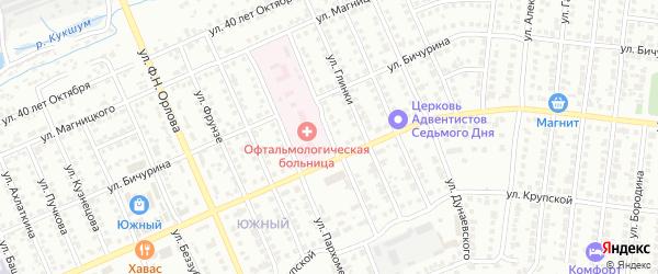 Улица Ф.Павлова на карте Чебоксар с номерами домов