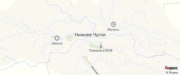 Школьная улица на карте села Нижнего Чугли Дагестана с номерами домов