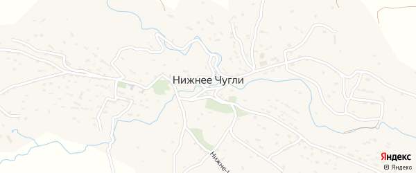 Улица Имама Шамиля на карте села Нижнего Чугли Дагестана с номерами домов