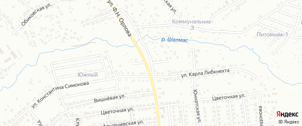 Улица Алексея Ургалкина на карте Чебоксар с номерами домов