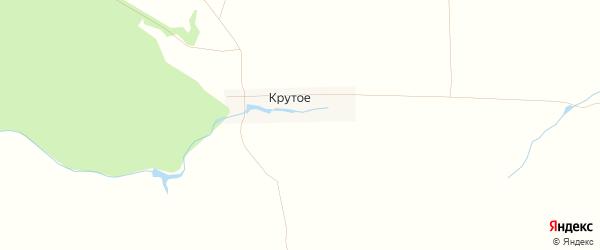 Карта деревни Крутого в Кировской области с улицами и номерами домов