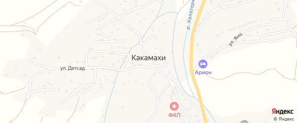 Какамахинская улица на карте села Какамахи Дагестана с номерами домов