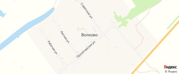 Заречный переулок на карте села Волково Саратовской области с номерами домов