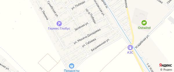 Улица Дахадаева на карте села Коркмаскалы Дагестана с номерами домов