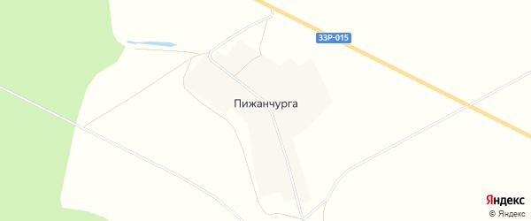 Карта деревни Пижанчурги в Кировской области с улицами и номерами домов