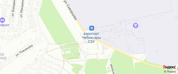 Площадь И.Ф.Скворцова на карте Чебоксар с номерами домов
