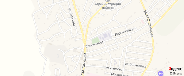 Улица Кирова на карте села Левашей Дагестана с номерами домов