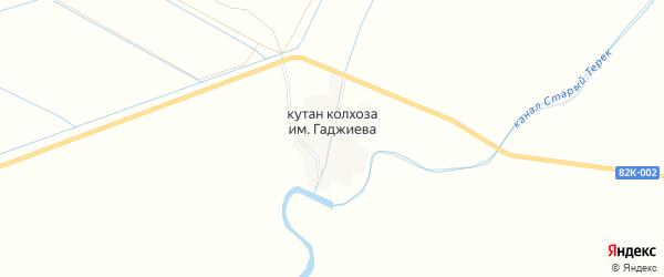 Карта села М.Гаджиева в Дагестане с улицами и номерами домов