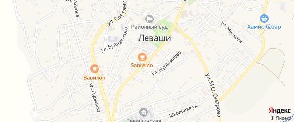Улица Ленина на карте села Левашей Дагестана с номерами домов
