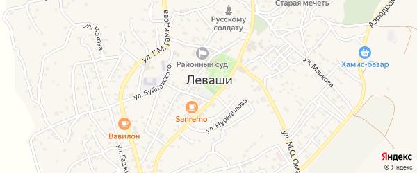 Улица Камар на карте села Левашей Дагестана с номерами домов