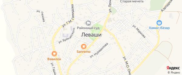 Улица Дружбы на карте села Левашей Дагестана с номерами домов