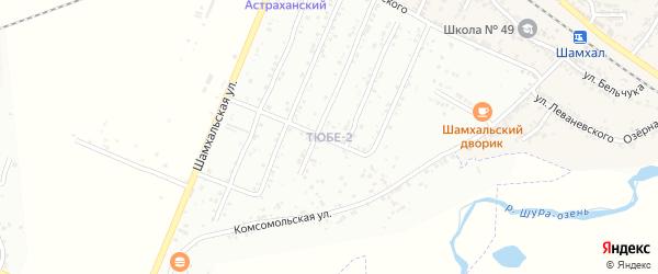 2-й микрорайон на карте поселка Тюбе Дагестана с номерами домов