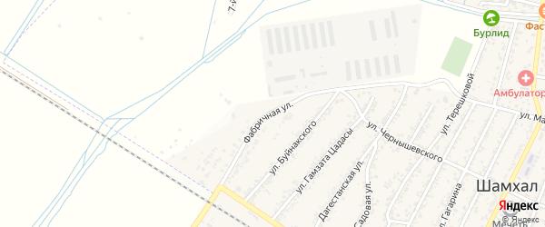 Фабричная улица на карте поселка Шамхала с номерами домов