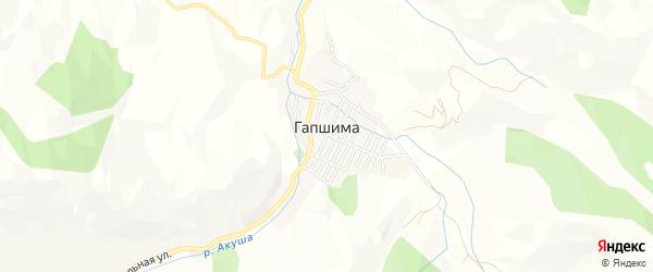Карта села Гапшимы в Дагестане с улицами и номерами домов
