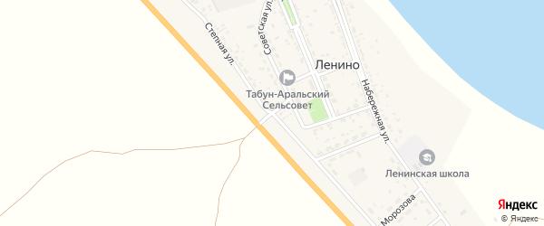 Степная улица на карте села Ленино Астраханской области с номерами домов