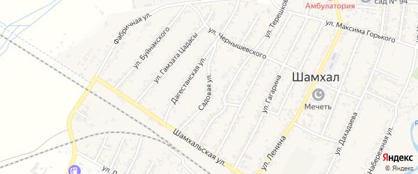 Садовая улица на карте поселка Шамхала с номерами домов