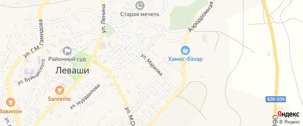 Улица Маркова на карте села Левашей Дагестана с номерами домов