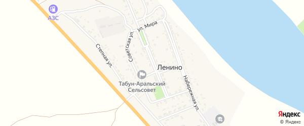 Школьная улица на карте села Ленино Астраханской области с номерами домов