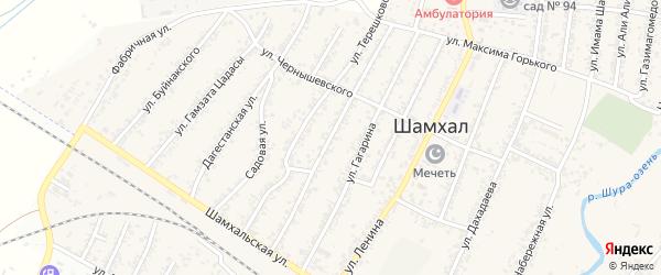 Улица Сулеймана Стальского на карте поселка Шамхала с номерами домов