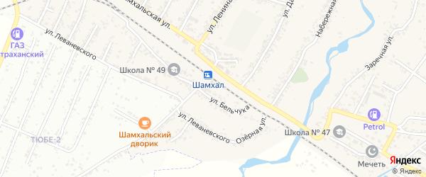 Железнодорожная улица на карте поселка Шамхала с номерами домов