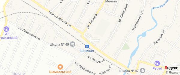 Улица Толстого на карте поселка Шамхала с номерами домов