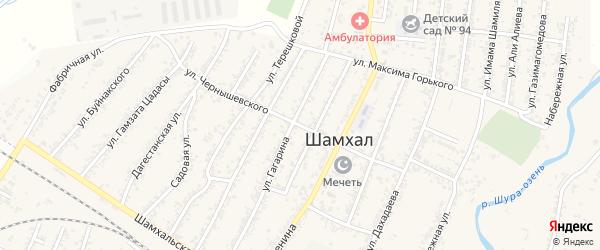 Улица Чернышевского на карте поселка Шамхала с номерами домов